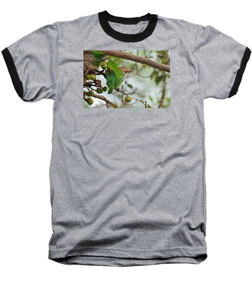 Baseball T-Shirt featuring the photograph Bird In The Bush by Pravine Chester