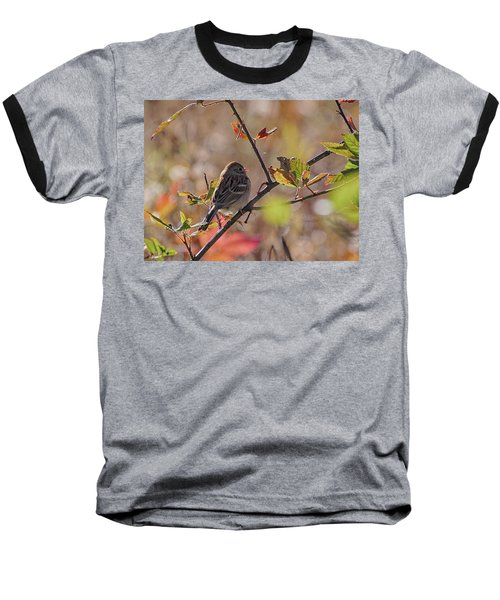 Bird In  Tree Baseball T-Shirt