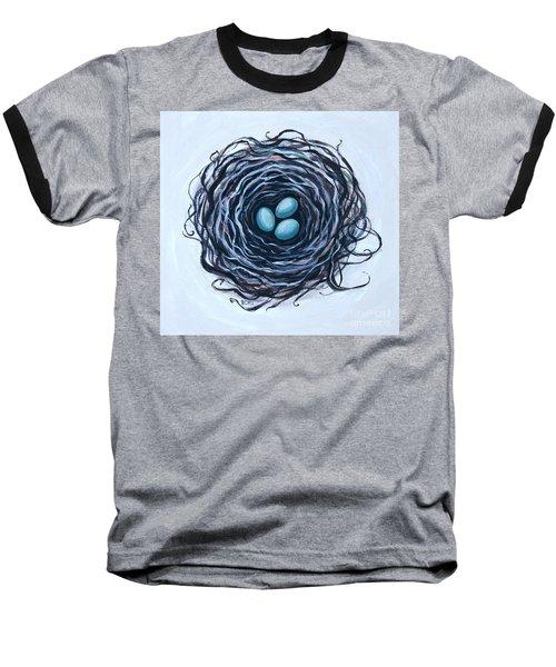 Bird Nest And Eggs Baseball T-Shirt