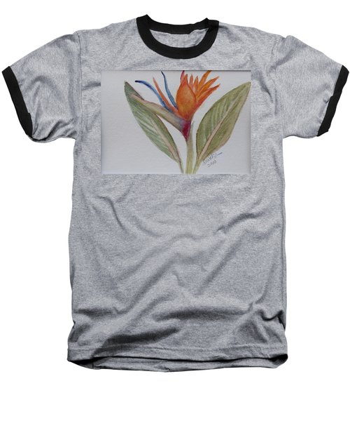 Baseball T-Shirt featuring the painting Bird Of Paradise by Donna Walsh