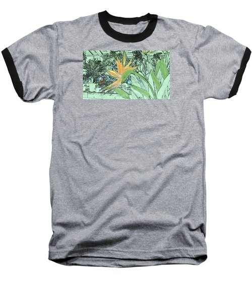 Baseball T-Shirt featuring the photograph Bird Of Paradise In The Hothouse by Nareeta Martin