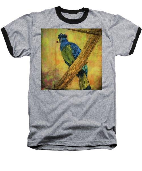 Bird On A Branch Baseball T-Shirt by Lewis Mann