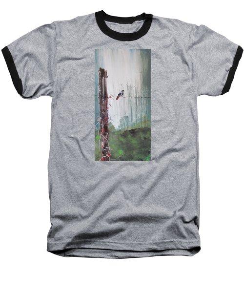 Bird On A Wire Baseball T-Shirt