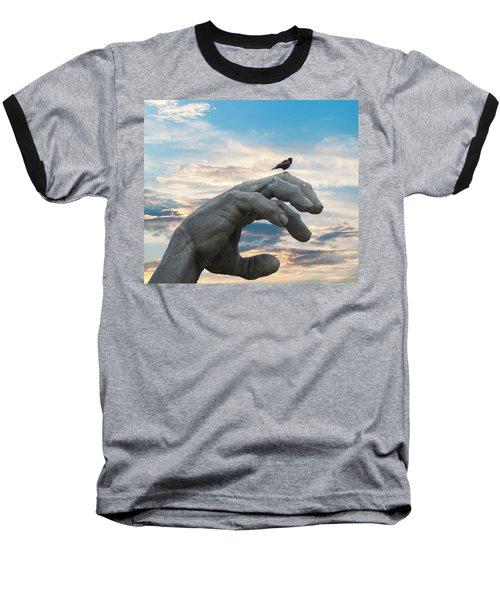 Bird On Hand Baseball T-Shirt