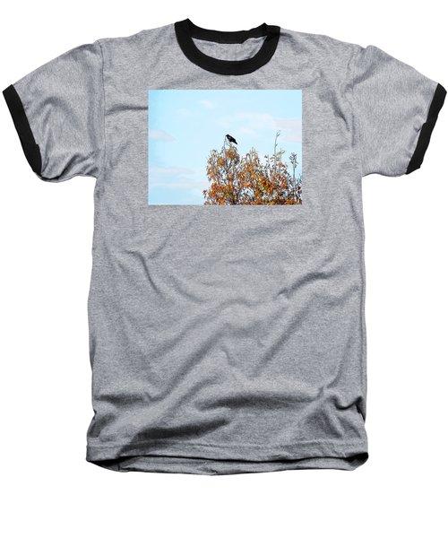 Bird On Tree Baseball T-Shirt by Craig Walters