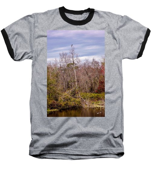 Baseball T-Shirt featuring the photograph Bird Out On A Limb 3 by Madeline Ellis
