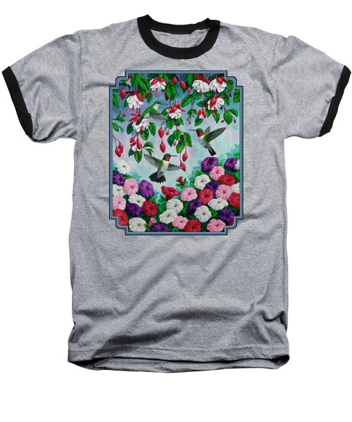 Bird Painting - Hummingbird Heaven Baseball T-Shirt