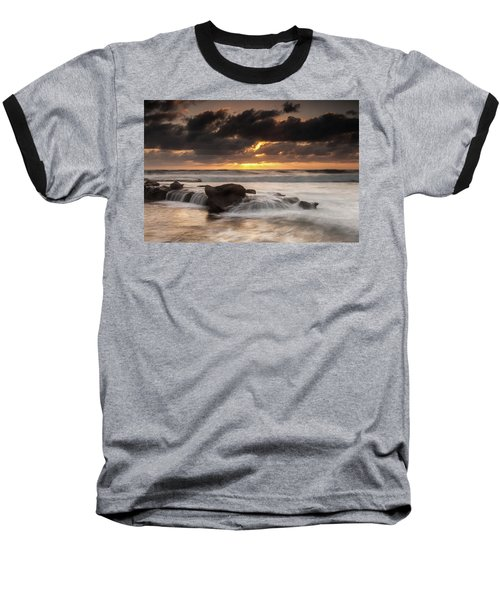 Bird Rock Clearing Storm Baseball T-Shirt