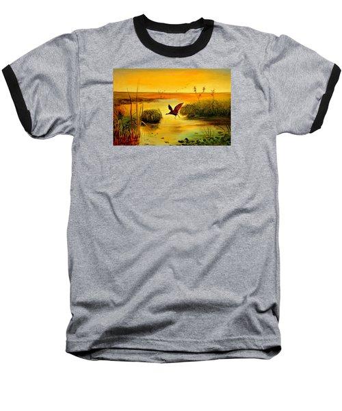Baseball T-Shirt featuring the painting Bird Water by Henryk Gorecki