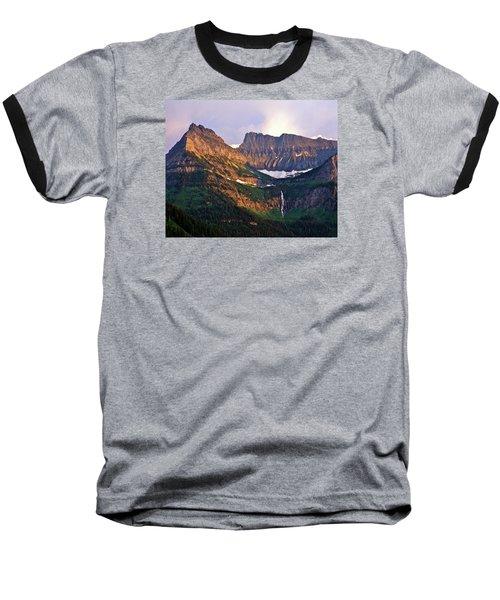 Bird Woman Falls Sunset Baseball T-Shirt