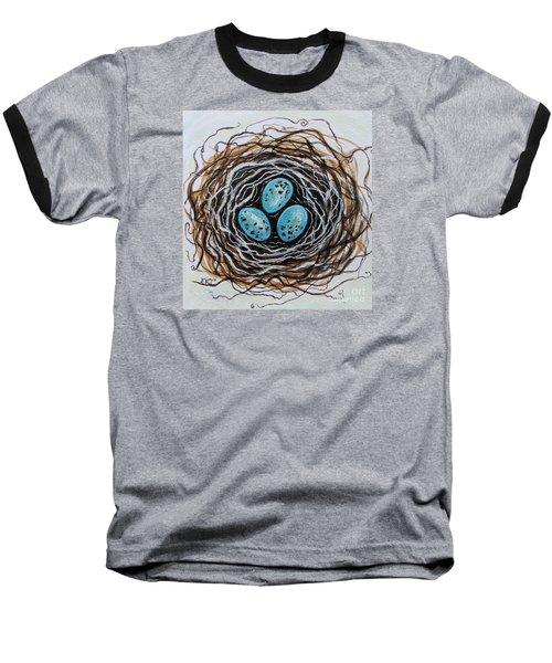Birdnest Botanical Study Baseball T-Shirt