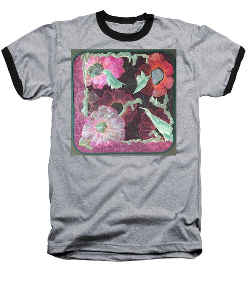 Birds And Blooms Baseball T-Shirt