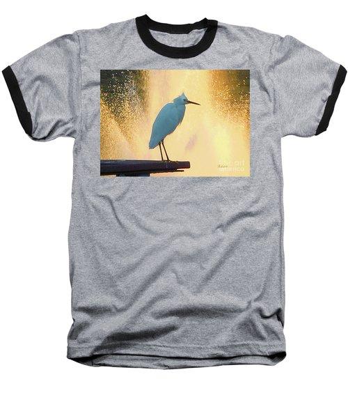 Birds And Fun At Butler Park Austin - Birds 3 Detail Macro Baseball T-Shirt by Felipe Adan Lerma