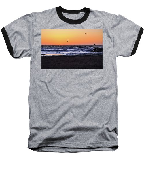 Birds At Sunrise Baseball T-Shirt