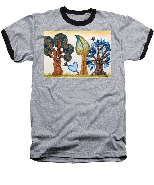 Birds In Love Baseball T-Shirt