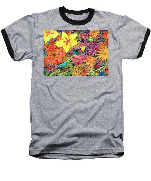 Birds In Paradise Baseball T-Shirt by Charles Cater