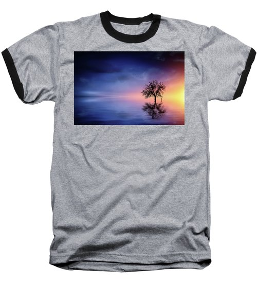 Birds In The Trees, Some Are Fleeing Baseball T-Shirt by Bess Hamiti