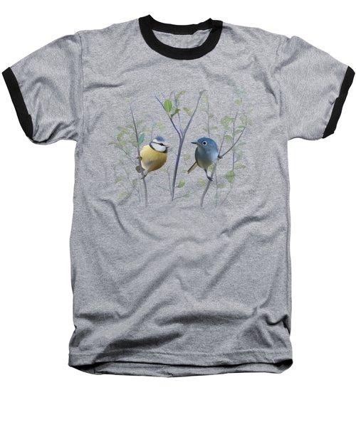 Birds In Tree Baseball T-Shirt by Ivana