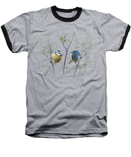 Birds In Tree Baseball T-Shirt