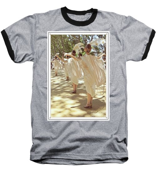 Birds Of A Feather Follies Baseball T-Shirt by Lilliana Mendez