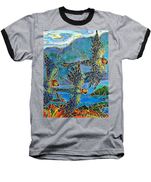 Baseball T-Shirt featuring the painting Birds Of Paradise by Rae Chichilnitsky