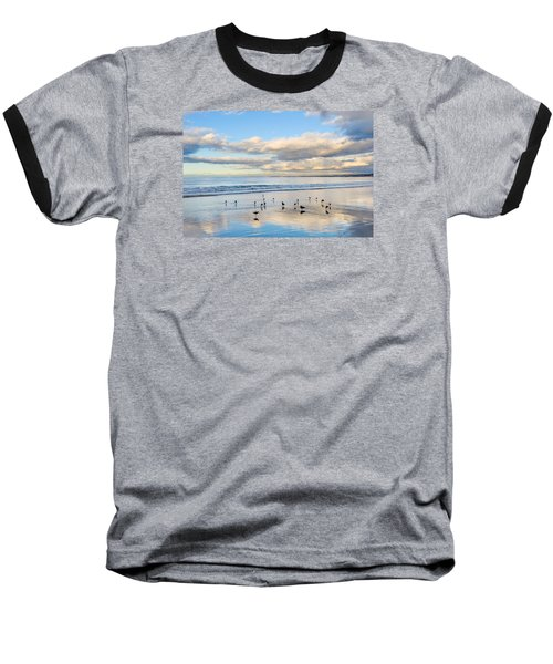 Birds On The Beach Baseball T-Shirt