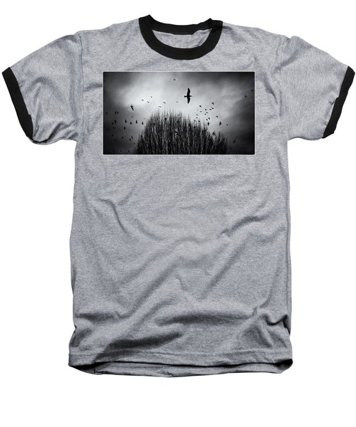 Birds Over Bush Baseball T-Shirt