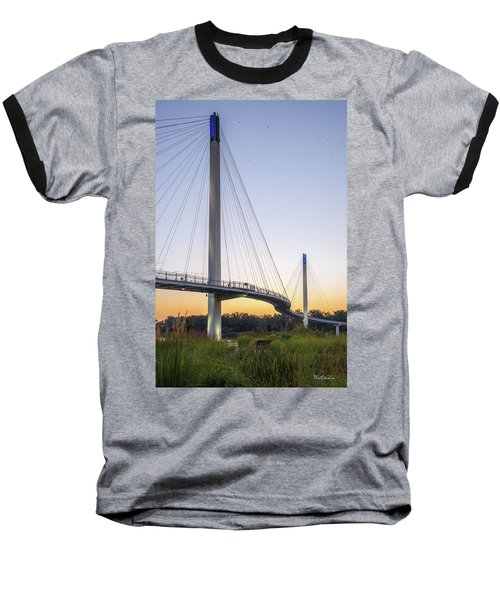 Birds Soaring Over Bob Kerry Bridge Baseball T-Shirt