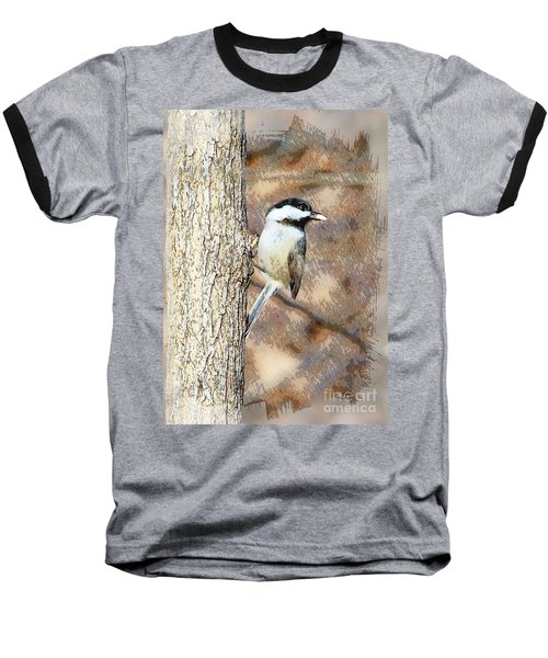 Baseball T-Shirt featuring the photograph Bird@seed by Robert Pearson