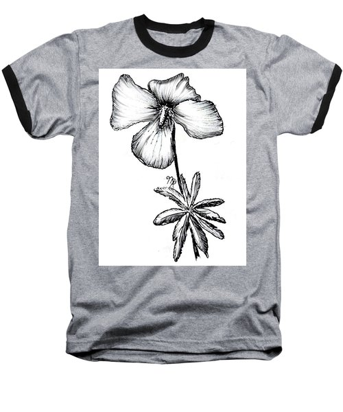 Birdsfoot Violet Baseball T-Shirt