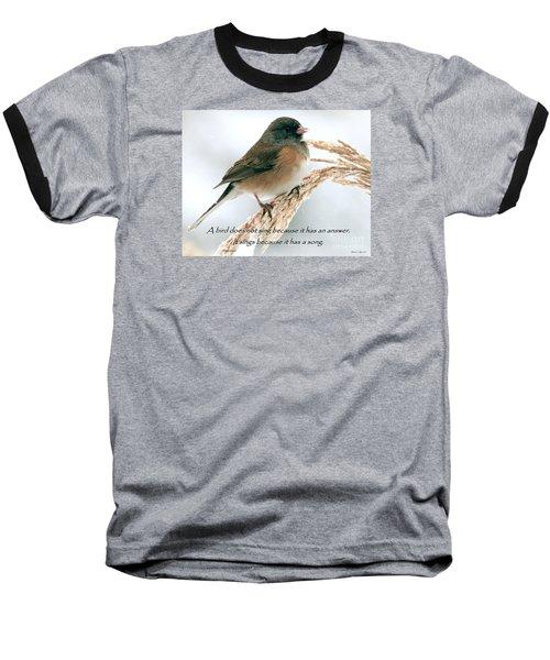 Birdsong Baseball T-Shirt