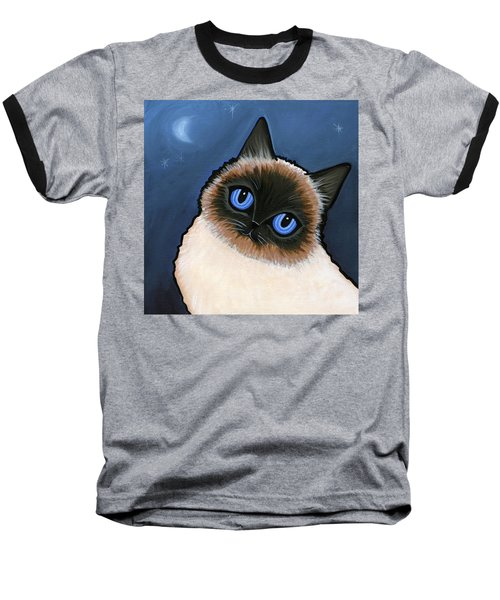 Birman Blue Night Baseball T-Shirt