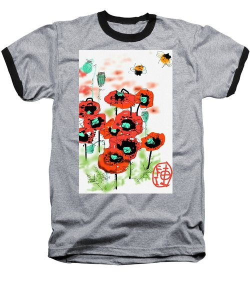 Birthday Field Of Flowers  Baseball T-Shirt