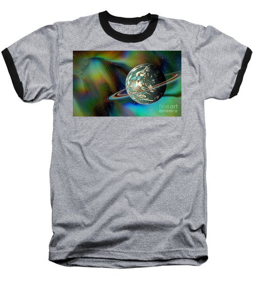 Birthing Planet Baseball T-Shirt by Curtis Koontz