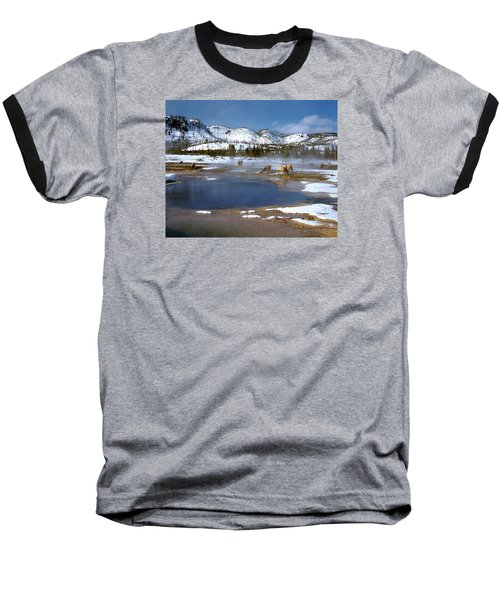 Biscuit Basin Elk Herd Baseball T-Shirt by Ed  Riche