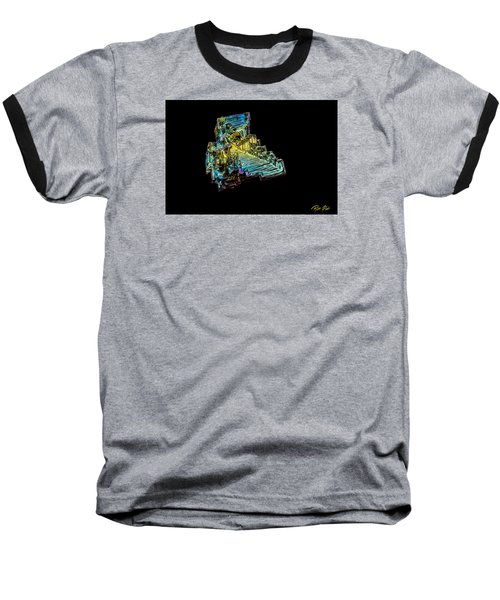 Baseball T-Shirt featuring the photograph Bismuth Crystal by Rikk Flohr