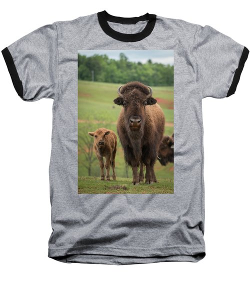 Baseball T-Shirt featuring the photograph Bison 4 by Joye Ardyn Durham