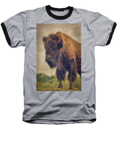 Baseball T-Shirt featuring the photograph Bison 8 by Joye Ardyn Durham