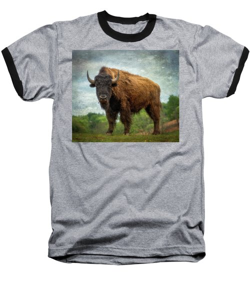 Baseball T-Shirt featuring the photograph Bison 9 by Joye Ardyn Durham