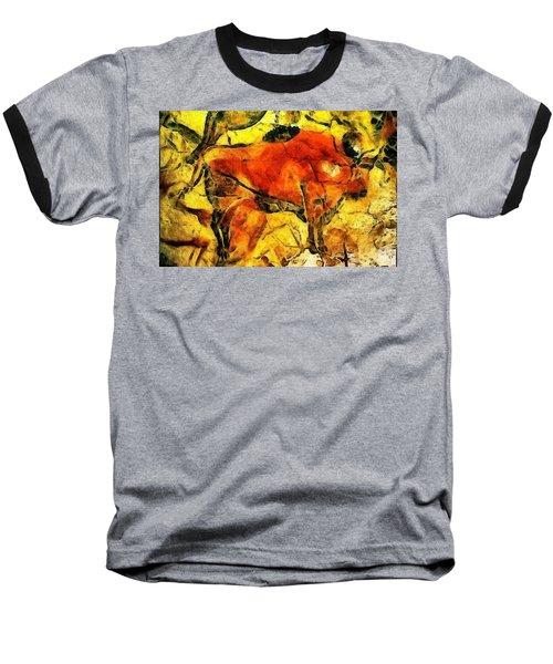 Bison Baseball T-Shirt by Anton Kalinichev