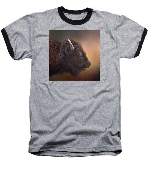Bison Baseball T-Shirt by David and Carol Kelly