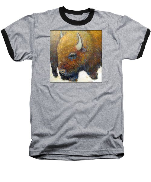 Bison For T-shirts And Accessories Baseball T-Shirt by Loretta Luglio