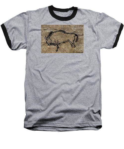 Bison From Niaux Cave Baseball T-Shirt by Dragica Micki Fortuna
