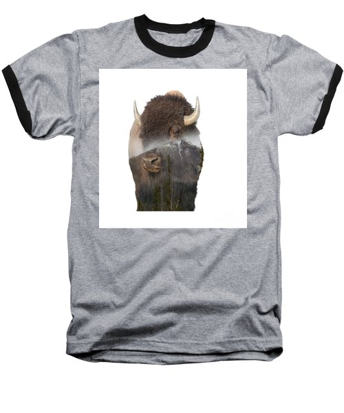 Bison Mountain  Baseball T-Shirt