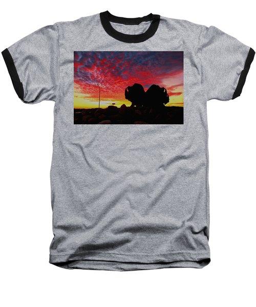 Bison Sunset Baseball T-Shirt