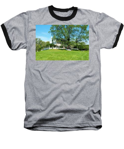 Baseball T-Shirt featuring the photograph Bit O Nh History by Greg Fortier
