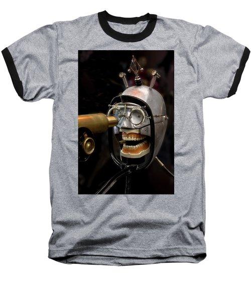 Bite The Bullet - Steampunk Baseball T-Shirt by Betty Denise