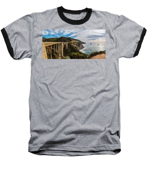 Bixby Creek Bridge Big Sur California  Baseball T-Shirt by John McGraw