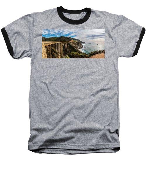 Bixby Creek Bridge Big Sur California  Baseball T-Shirt