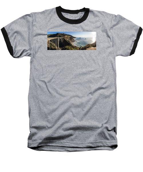 Bixby Bridge Panaramic  Baseball T-Shirt